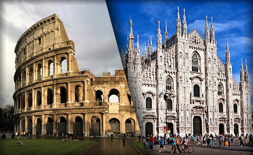 Roma o Milano Prenota la tua vacanza in un click